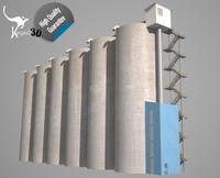 3d grain silos - model