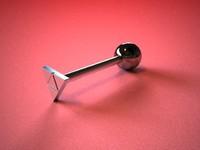 3d model barbell triforce