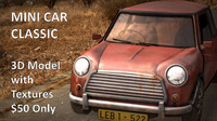 old mini car 3d model