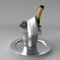 3d model champagne bucket ice