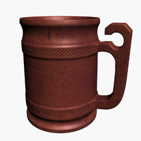 wooden beer mug obj