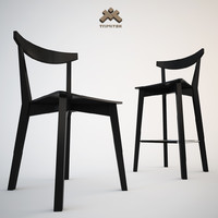 modern dining chair barstool 3d model