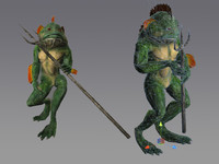 frogman rpg character 3ds
