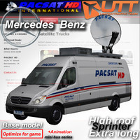 mercedes benz sprinter van 3d 3ds