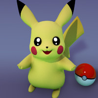 3d pikachu cartoons