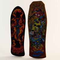 Two Classic Skateboard Decks