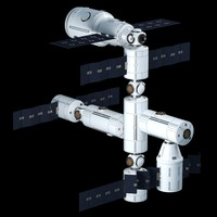 3d model space station