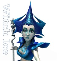 character witch ice 3d model