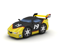maya cartoon racing car