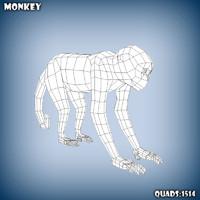 maya base mesh monkey