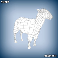 base mesh sheep 3d model