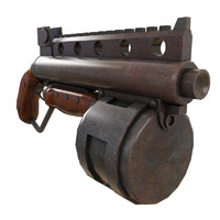 3d steam punk shotgun model