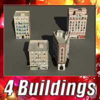 building 17-20 collections 3d model