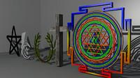 religion symbols 3d model