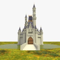 3d castle building model