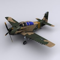 a-1 skyraider 1st special 3d model