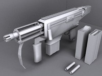 3d model autocannon sub machine