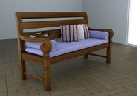 bench lounge 3d model
