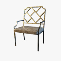 Chrome Chippendale Dining Chair