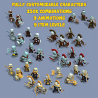 3d heroes animations 11k fantasy