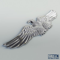 3d chrome eagle model