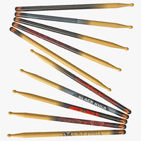 drum sticks 3ds