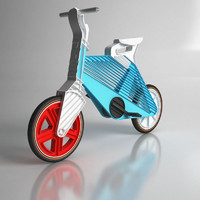 3d model recycled plastic bike