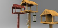 bird feeders 3d max
