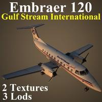 embraer emb 120 gft 3d max