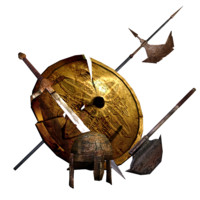 3d model old weapon armor pack