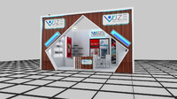 fair stand vuze ambalaj 3d model