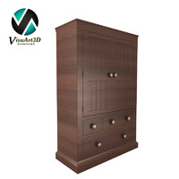 3d armoire furniture model