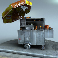 3d model real time hot dog