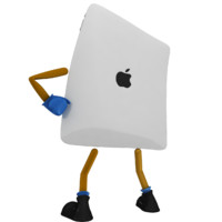 3d ipad rigged model