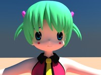 3d model of anime girl