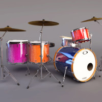 dollymix drumset 3d ma
