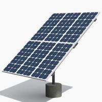 realistic solar panel 3d model