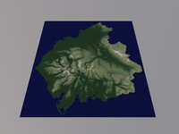 3D Relief Map Lake District Cumbria