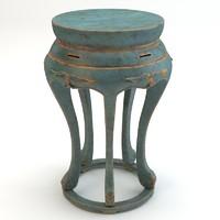 3d model details chair