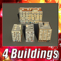 building 89-92 collections 3d model