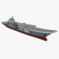 3d model liaoning chinese carrier