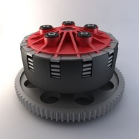 ducati motorcycle clutch 3d model