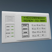 alarm keypad 3d max