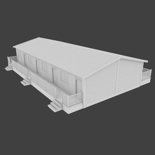 3d motel exterior real for Motel exterior design
