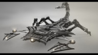 3d robotic scorpion model