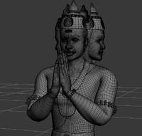 lord brahma statue