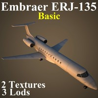 embraer basic 3d model