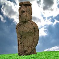 3dsmax realistic moai