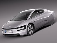 2014 volkswagen xl1 3d model
