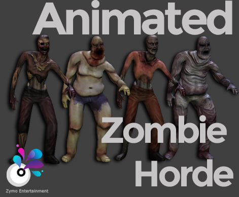 Zombie Horde - High and Low Poly